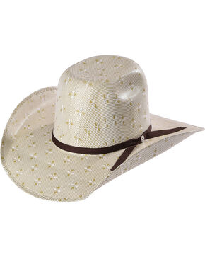 Hooey by Resistol Men's Natural Pecos Straw Cowboy Hat , Natural, hi-res