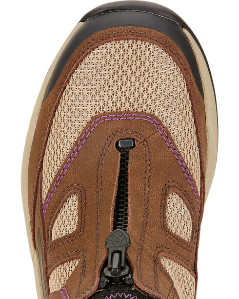 Ariat Women's Maxtrax UL Zip Riding Shoes, Chocolate, hi-res