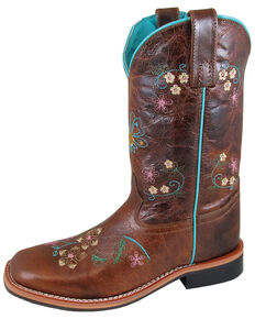 Smoky Mountain Women's Floralie Western Boots - Square Toe, Brown, hi-res