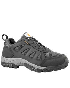 Carhartt Men's Lightweight Low Waterproof Hiker Work Boots - Soft Toe, Black, hi-res