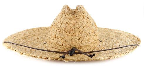 American Worker® Wide Brim Straw Hat, Natural, hi-res