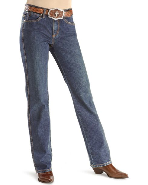 "Wrangler Jeans - Aura Instantly Slimming Stretch - Regular Rise - 30""- 34"", Midstone, hi-res"