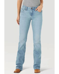 Wrangler Women's Q-Baby Bootcut Jeans, Blue, hi-res