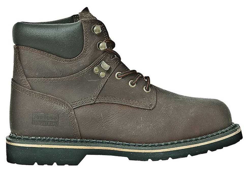 "McRae Industrial 6"" Lace-Up Work Boots - Steel Toe, Dark Brown, hi-res"