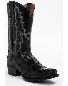 f180d21d1 Dan Post Mens Black Python Cowboy Boots - Square Toe, Black, hi-res