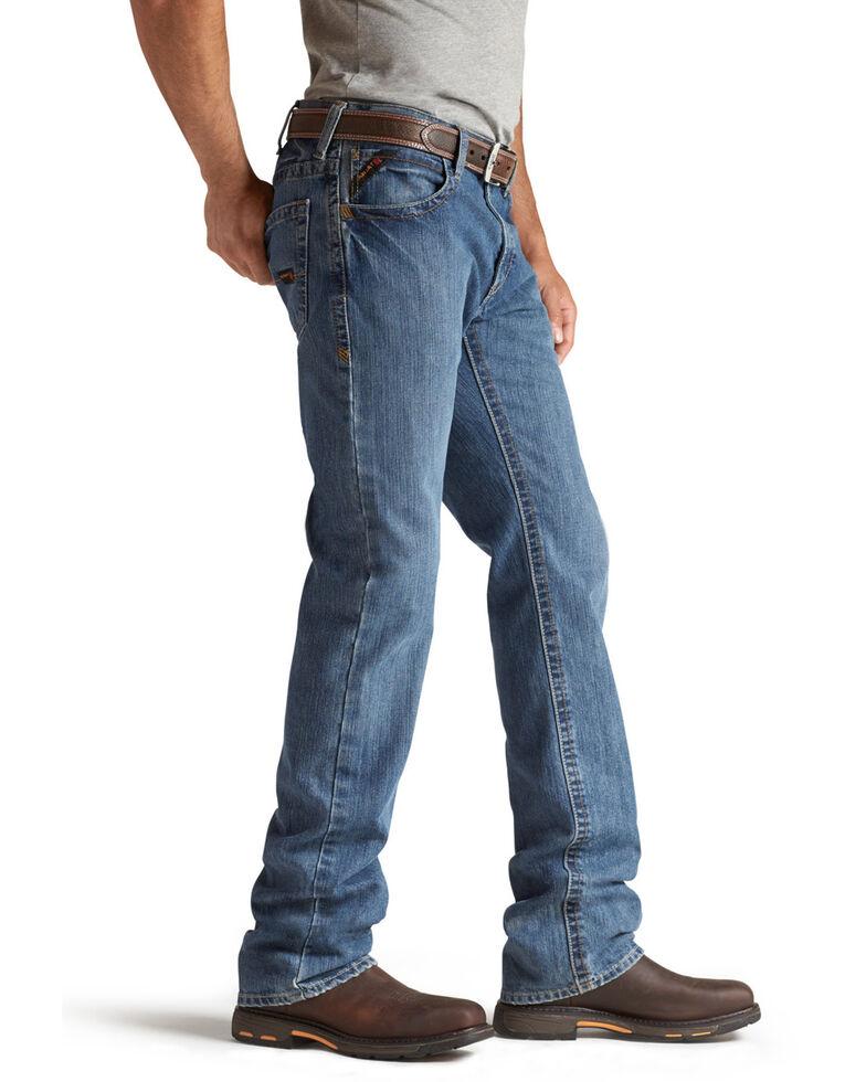 Ariat Men's Flint Flame Resistant Bootcut Work Jeans, Denim, hi-res