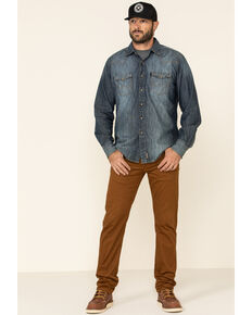 Levi's Men's 502 Monks Robe Tapered Regular Stretch Straight Leg Jeans , Chestnut, hi-res