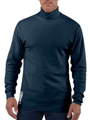 Carhartt Flame Resistant Force Navy Mock Turtleneck - Big & Tall, Navy, hi-res