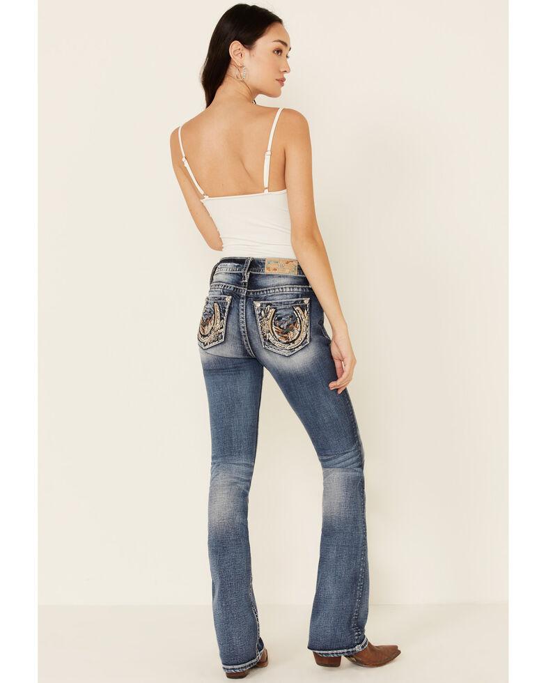 Miss Me Women's Dream World Bootcut Jeans, Blue, hi-res