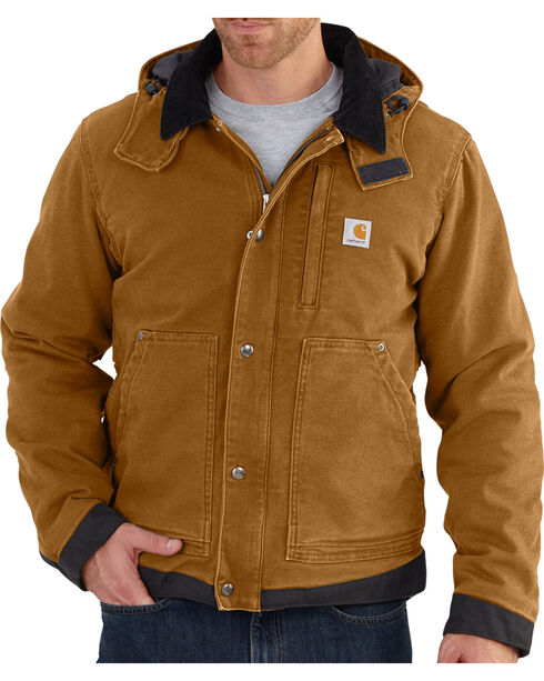 Carhartt Men's Full Swing Caldwell Jacket - Big & Tall, Brown, hi-res