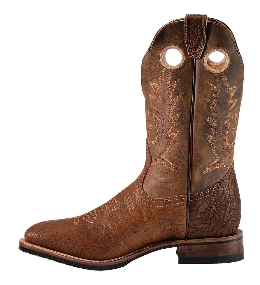 Boulet Cognac Roper Cowboy Boots - Round Toe, Cognac, hi-res