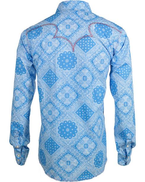 Cowboy Hardware Men's Long Sleeve Western Shirt, Blue, hi-res