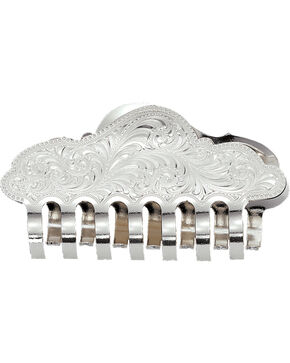 Montana Silversmiths Silver Engraved Jaw Clip Hair Accessory, Silver, hi-res