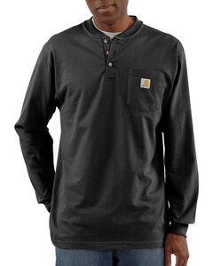 Carhartt Long Sleeve Work Henley Shirt, , hi-res