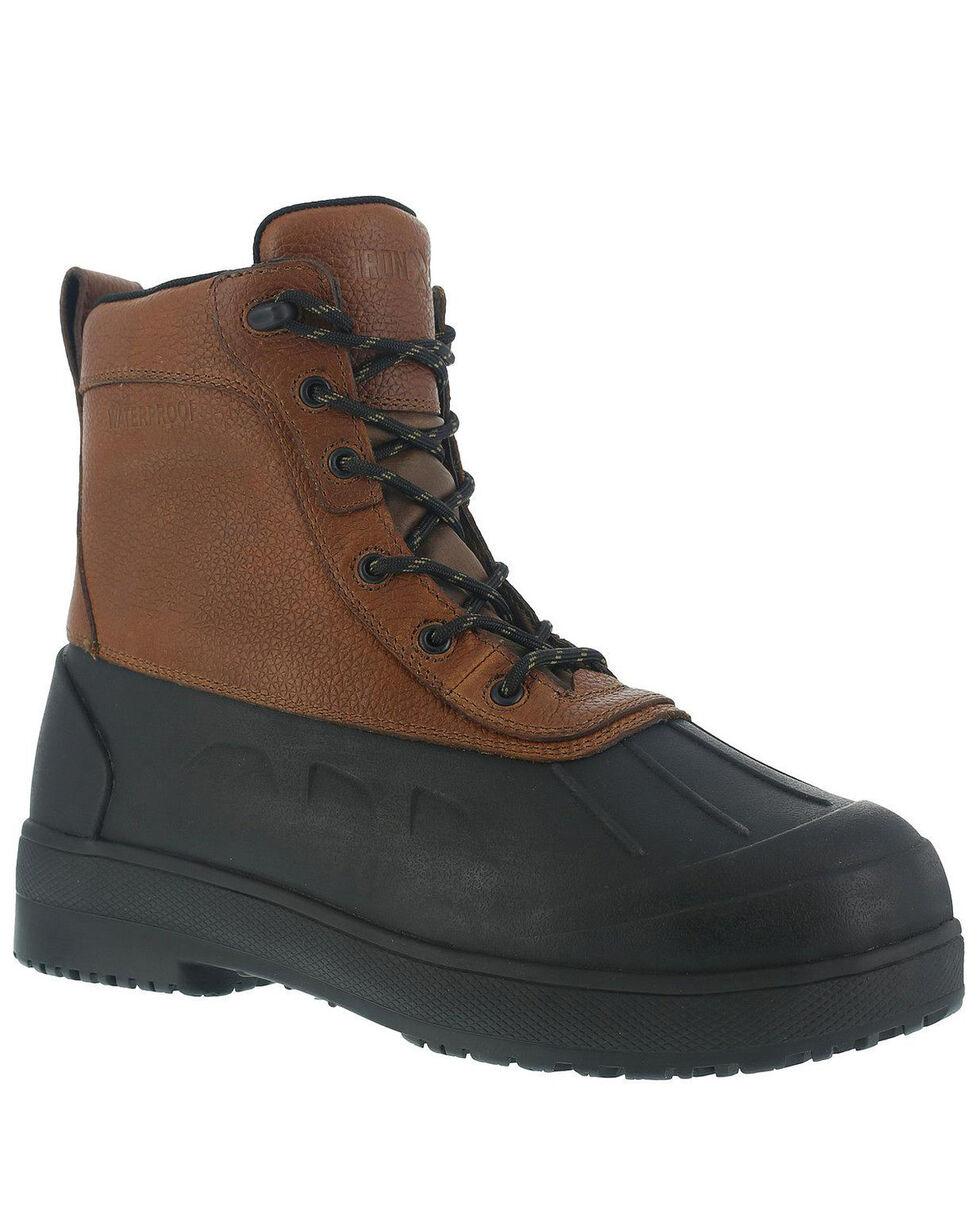 Iron Age Men's Duck Steel Toe Waterproof Work Boots, Brown, hi-res