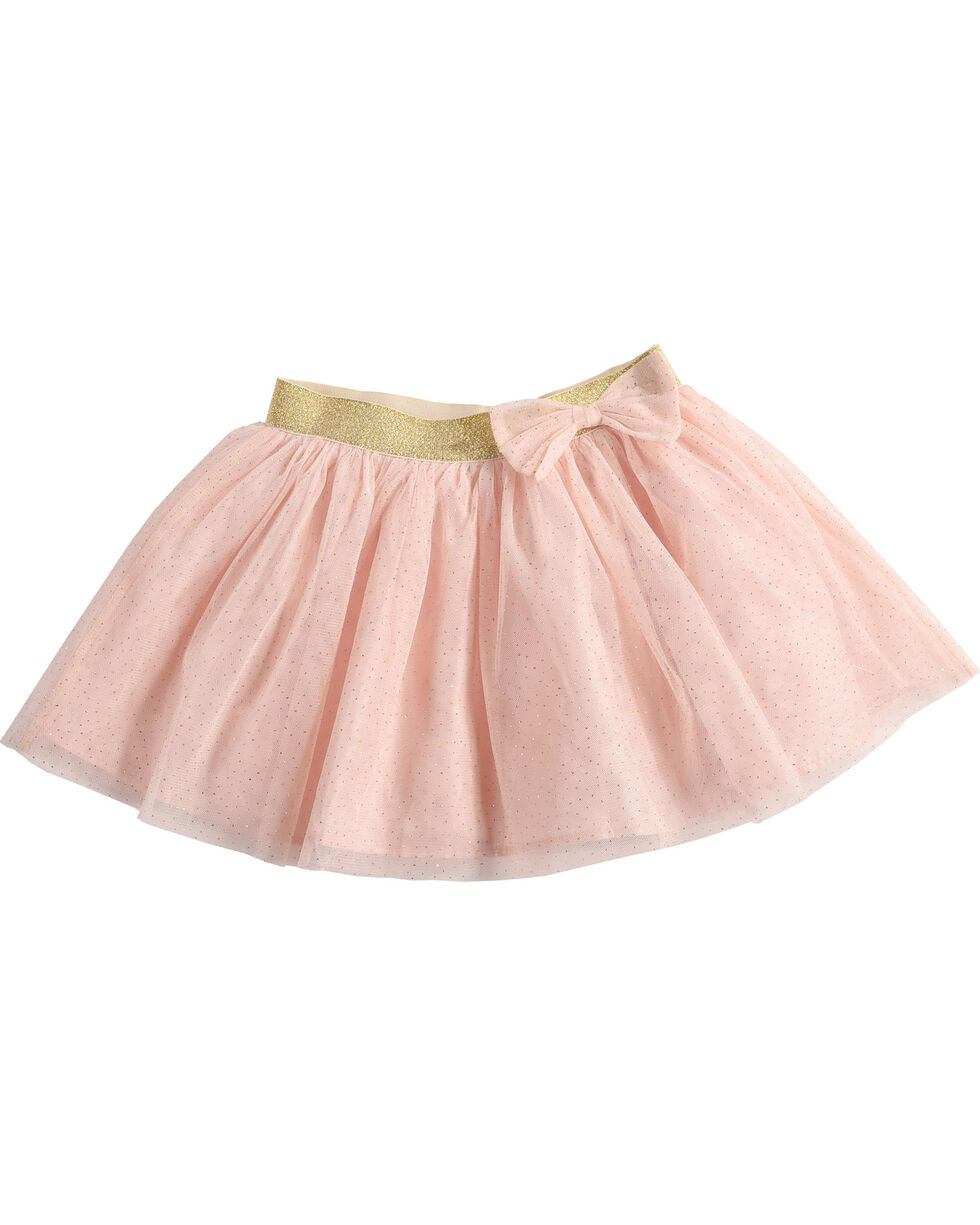 Shyanne Girl's Tulle Glitter Skirt, Pink, hi-res