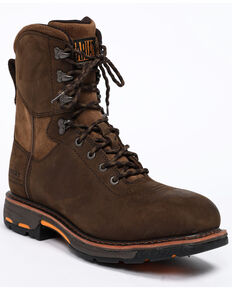"Ariat Men's Workhog 8"" H2O Work Boots - Composite Toe , Brown, hi-res"