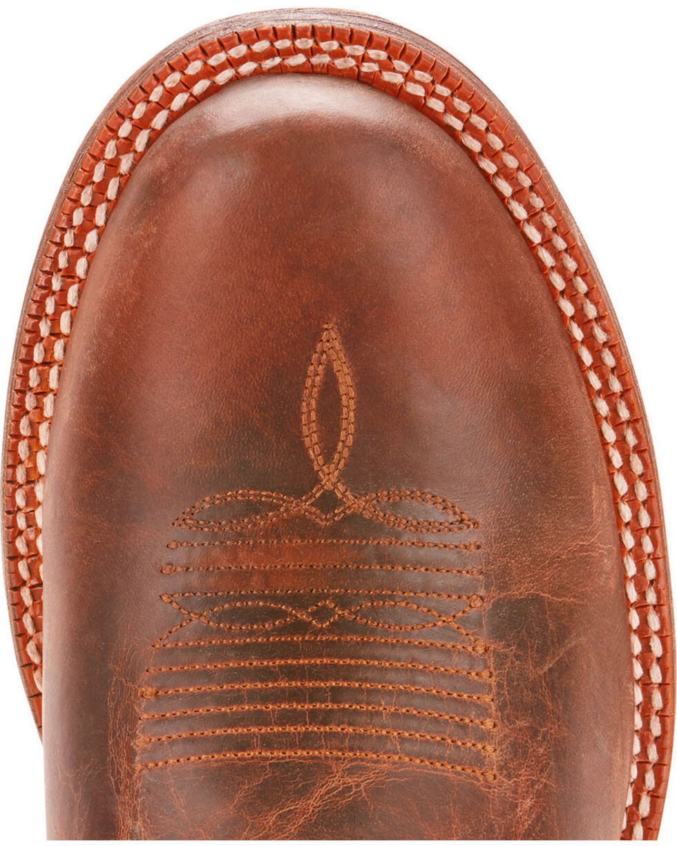 Ariat Men's Circuit Competitor Weathered Tan Performance Cowboy Boots - Square Toe, Tan, hi-res