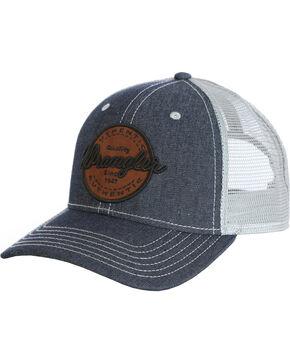 Wrangler Men's Denim Wrangler Logo Patch Baseball Cap , Indigo, hi-res