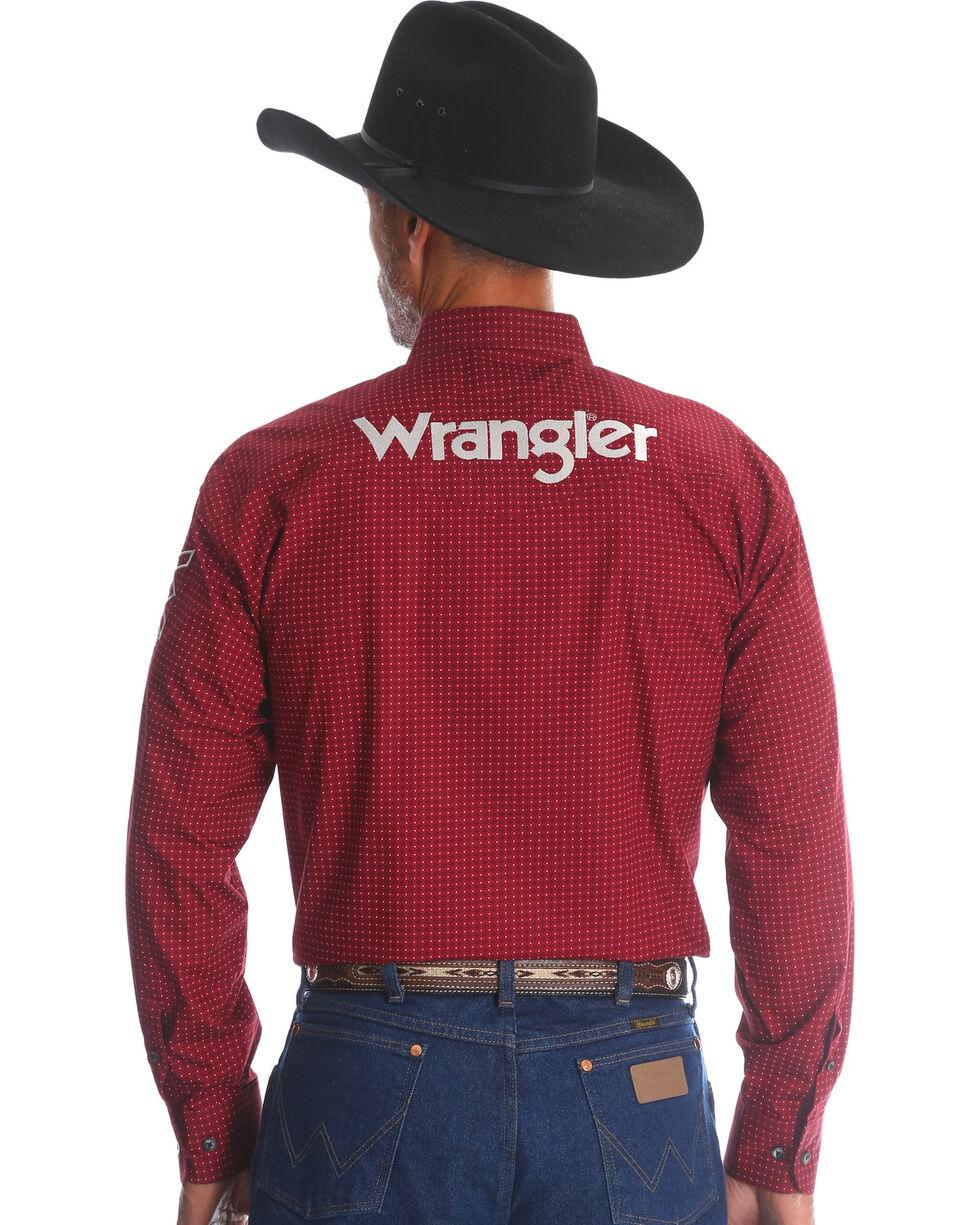 Wrangler Men's Red Western Logo Long Sleeve Shirt , Red, hi-res