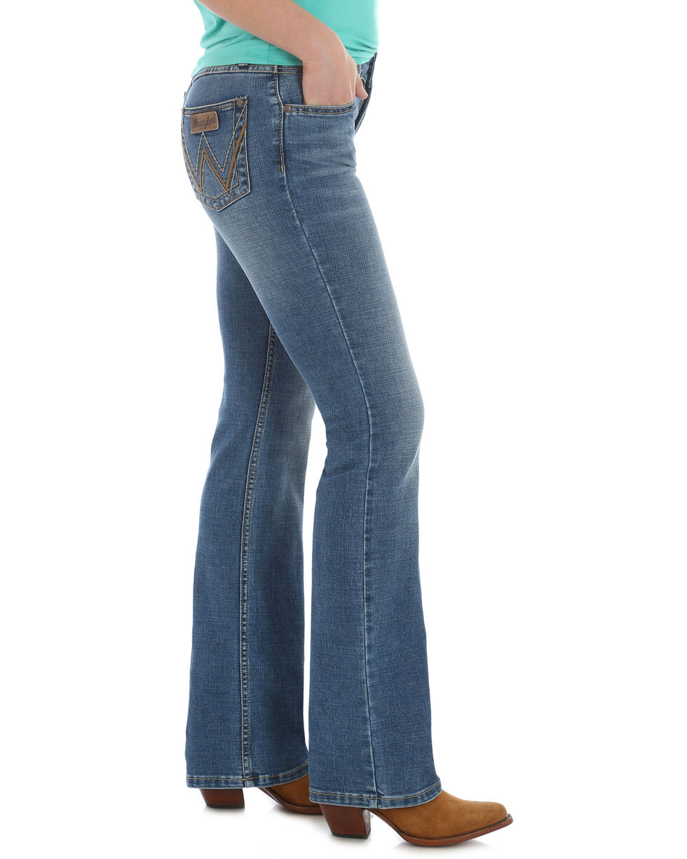 Wrangler Retro Women's Mae Boot Cut Jeans , Indigo, hi-res