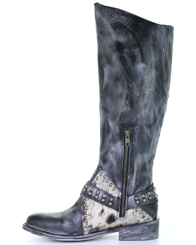 Corral Women's Black Harness Western Boots - Round Toe, Black, hi-res