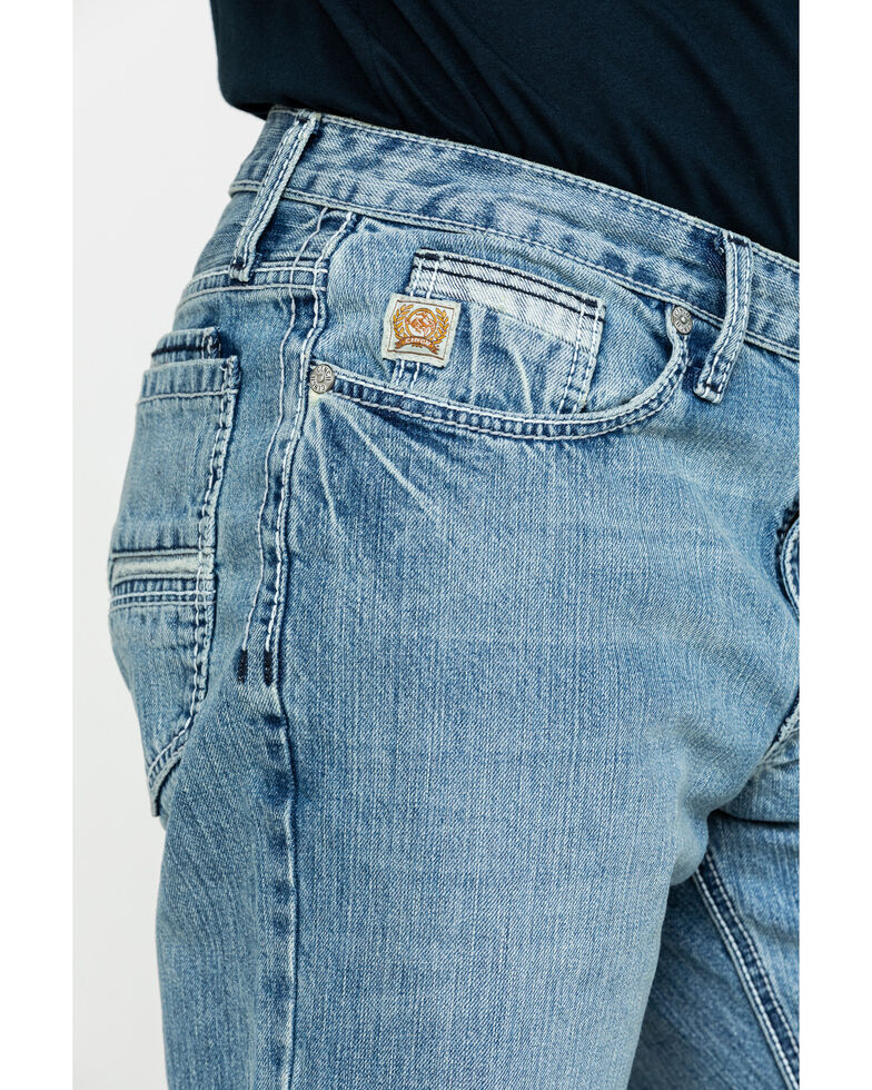 Cinch Men's Grant Light Relaxed Bootcut Jeans , Blue, hi-res