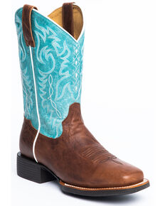 Shyanne Women's Spark Xero Gravity Western Boots - Wide Square Toe, Brown, hi-res