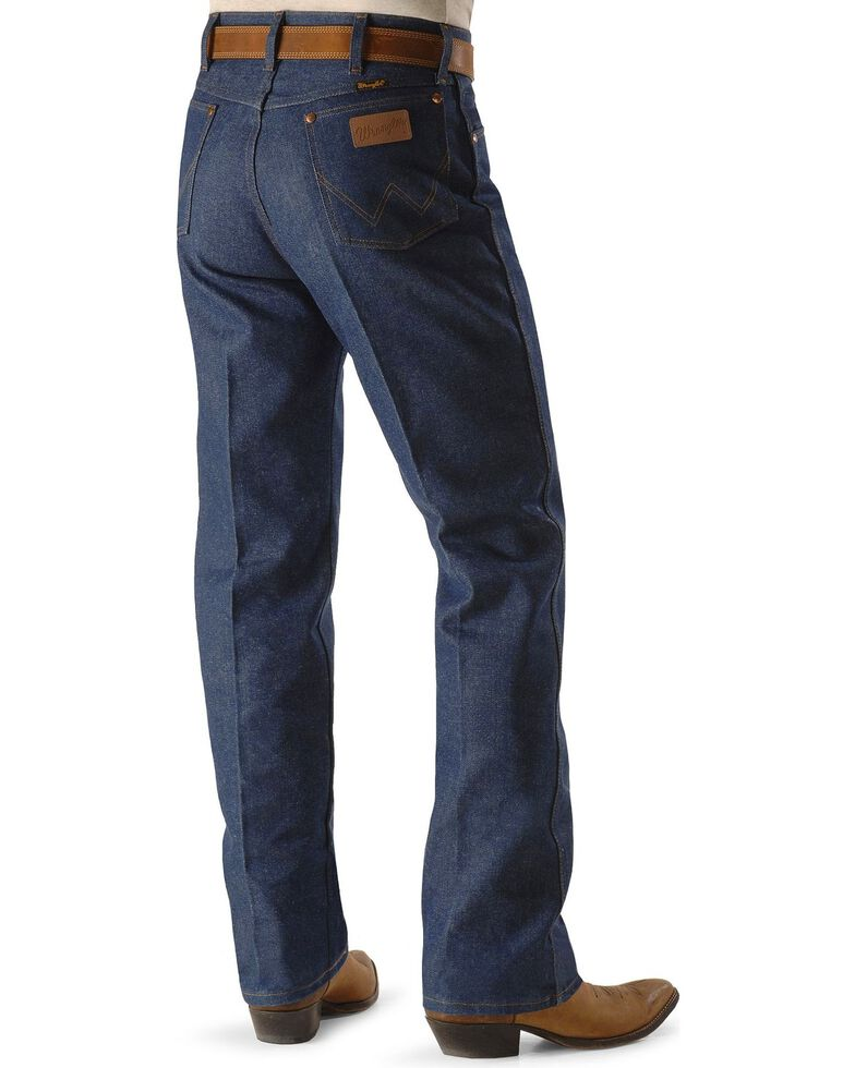 "Wrangler 13MWZ Cowboy Cut Rigid Original Fit Jeans - Up to 44"" Inseam, Indigo, hi-res"