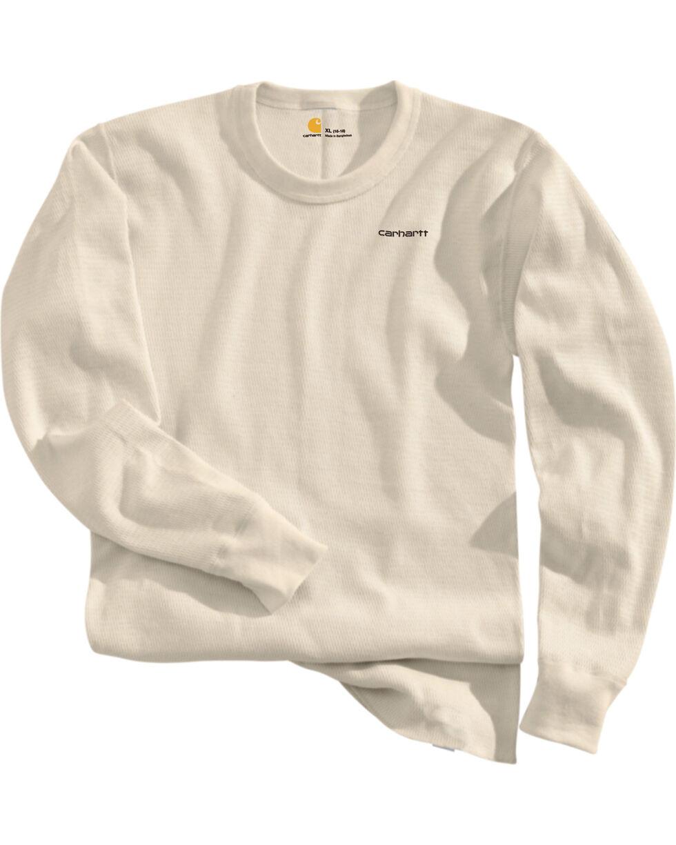 Carhartt Moisture-Wicking Thermal Under Shirt - Big & Tall, Natural, hi-res