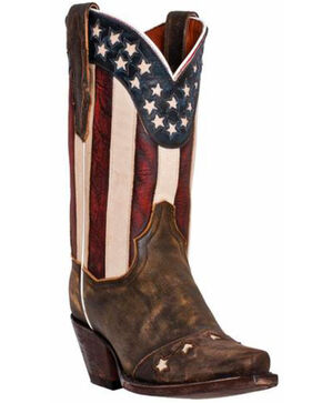 Dan Post Liberty Cowgirl Boots, Brown, hi-res
