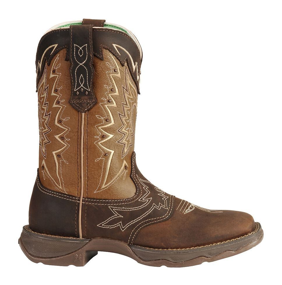 Durango Let Love Fly Rebel Cowgirl Boots - Square Toe, Distressed, hi-res
