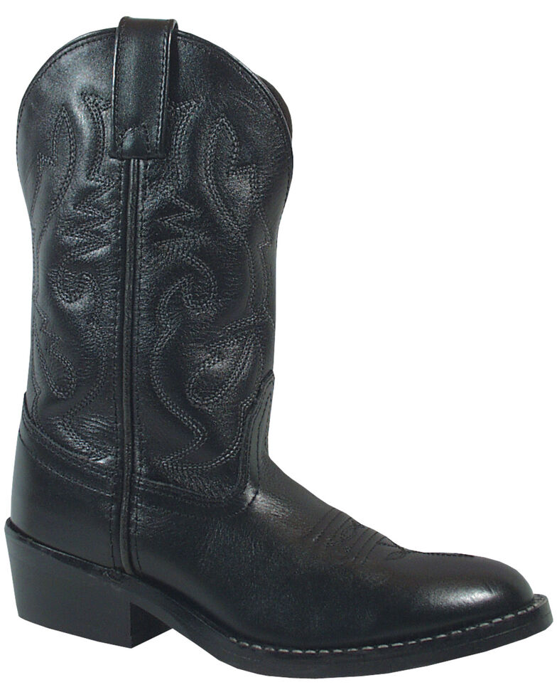 Smoky Mountain Boys' Denver Western Boots - Round Toe, Black, hi-res