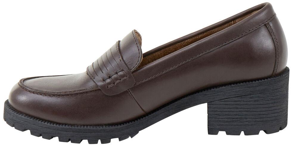 Eastland Women's Brown Newbury Penny Loafers, , hi-res