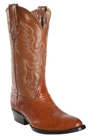 Ferrini Men's Peanut Teju Lizard Cowboy Boots - Medium Toe, Peanut, hi-res