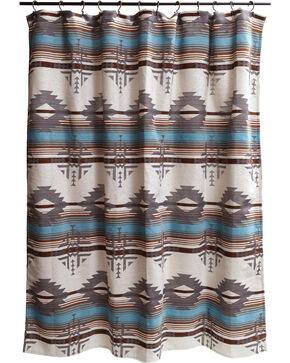 Carstens Badlands Shower Curtain, Turquoise, hi-res
