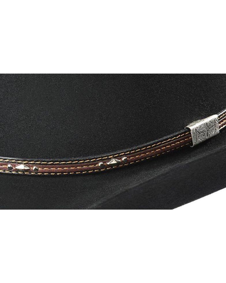 Resistol Men's George Strait Kingman 6X Fur Felt Cowboy Hat, Black, hi-res