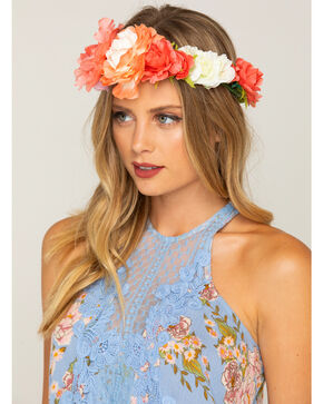 Shyanne Women's Floral Bouquet Flower Crown, Multi, hi-res