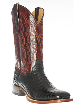Cinch Men's Caiman Belly Western Boots - Square Toe, Black, hi-res