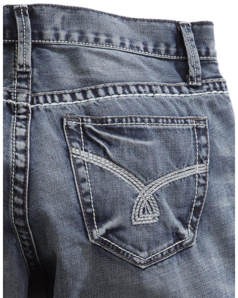 Tin Haul Men's Jagger Fit Triple Stitch Bootcut Jeans, Denim, hi-res