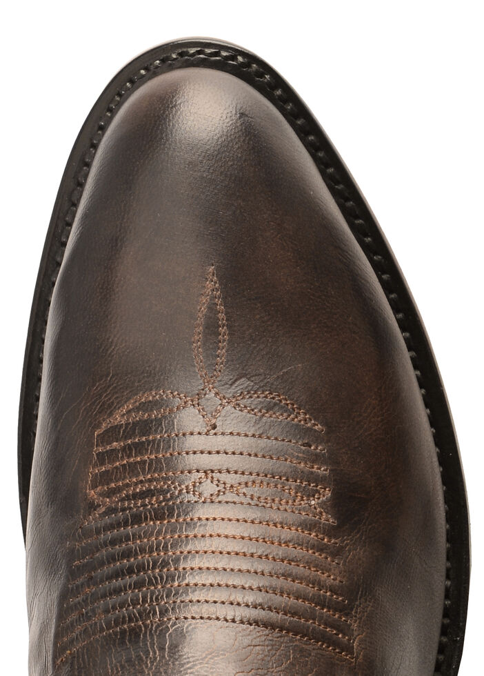 Lucchese Handmade Clint Heirloom Mad Dog Goat Boots- Round Toe, Peanut Brittle, hi-res