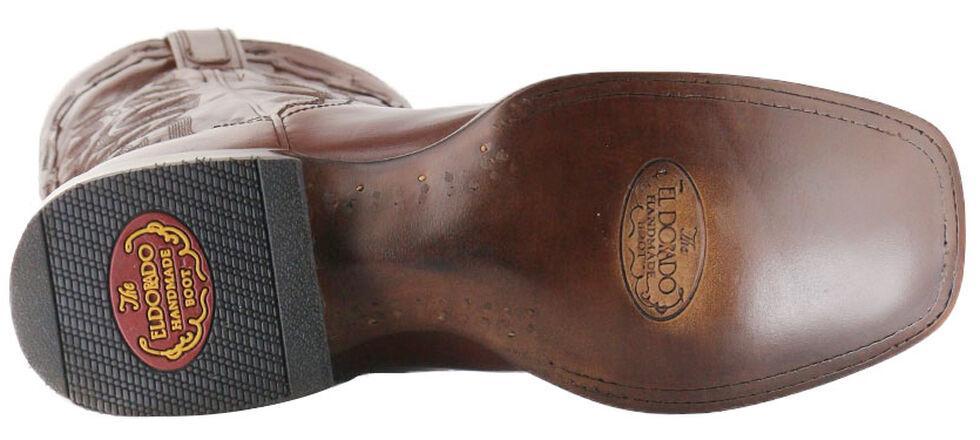 El Dorado Handmade Tan Vanquished Calf Cowboy Boots - Square Toe, Tan, hi-res