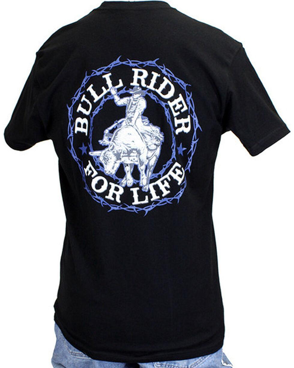 Cowboy Hardware Men's Bull Rider For Life Tee, Black, hi-res