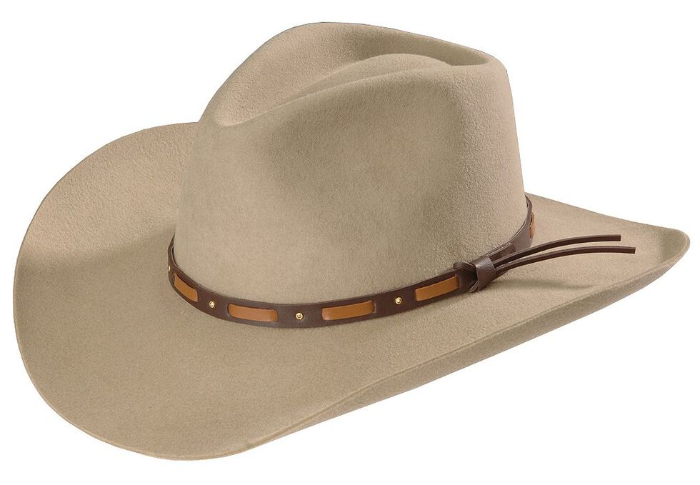 5bb22062 Zoomed Image Stetson Hutchins 3X Wool Felt Cowboy Hat, Stone, hi-res