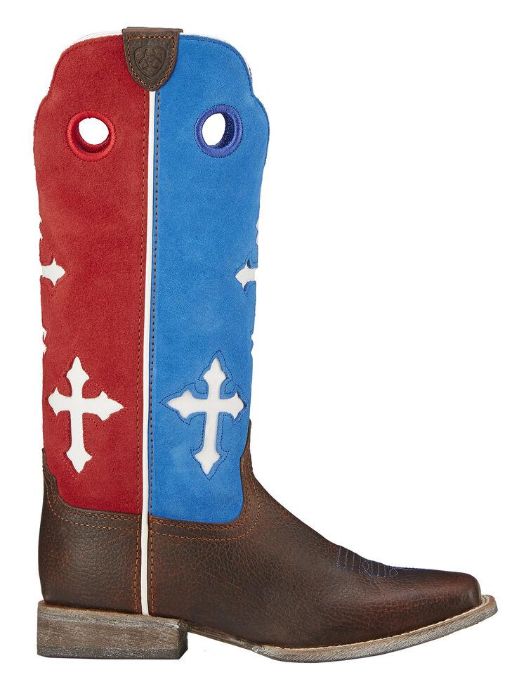 596b3bbe51f Ariat Boys' Ranchero Patriotic Cowboy Boots - Square Toe