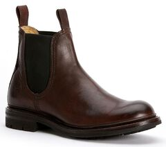 Frye Men's Freemont Chelsea Boots - Round Toe, Dark Brown, hi-res