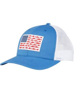 Columbia Men's Blue PFG Mesh Fish Flag Cap, Blue, hi-res