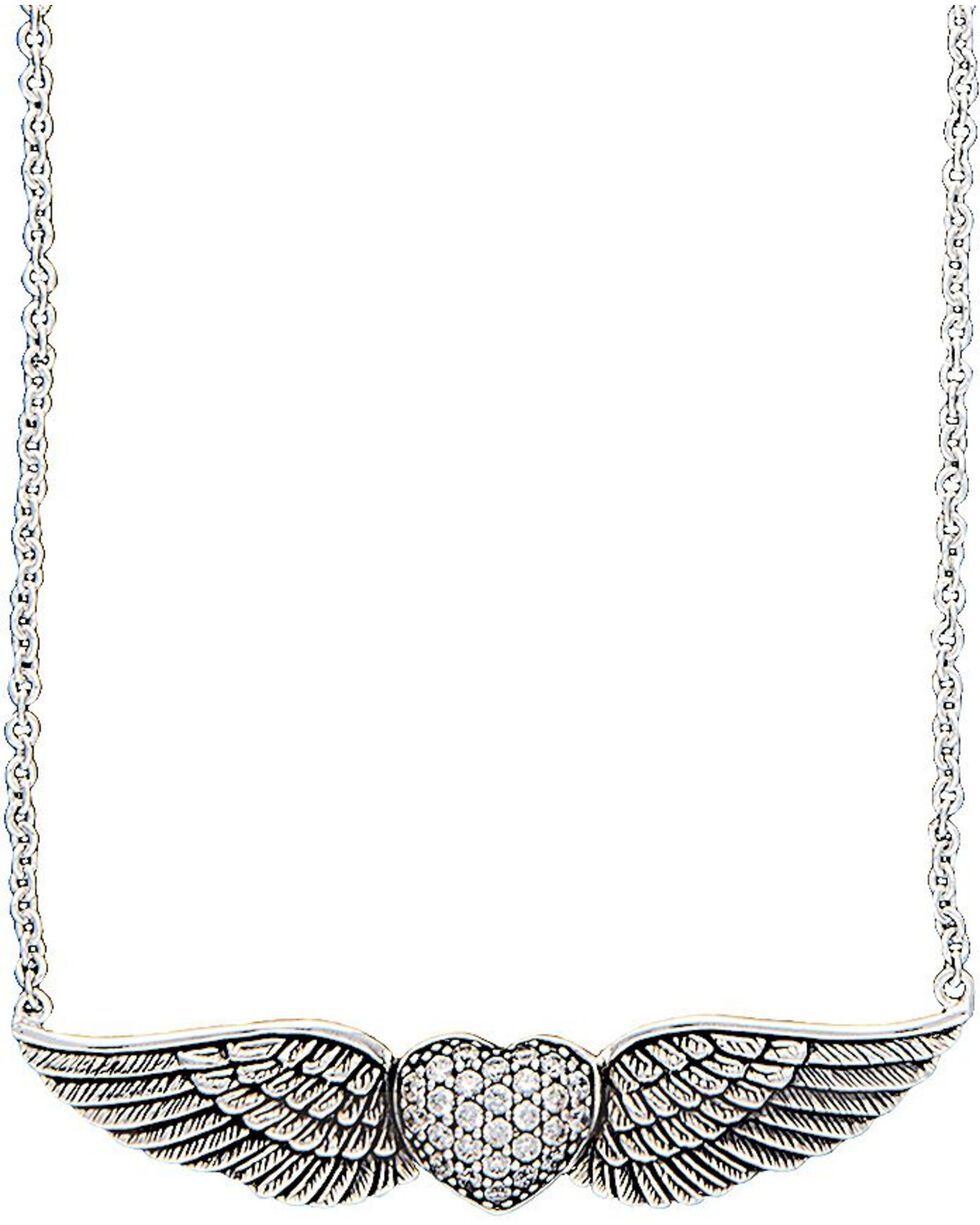 Montana Silversmiths May Your Heart Soar on Wings Necklace, Silver, hi-res