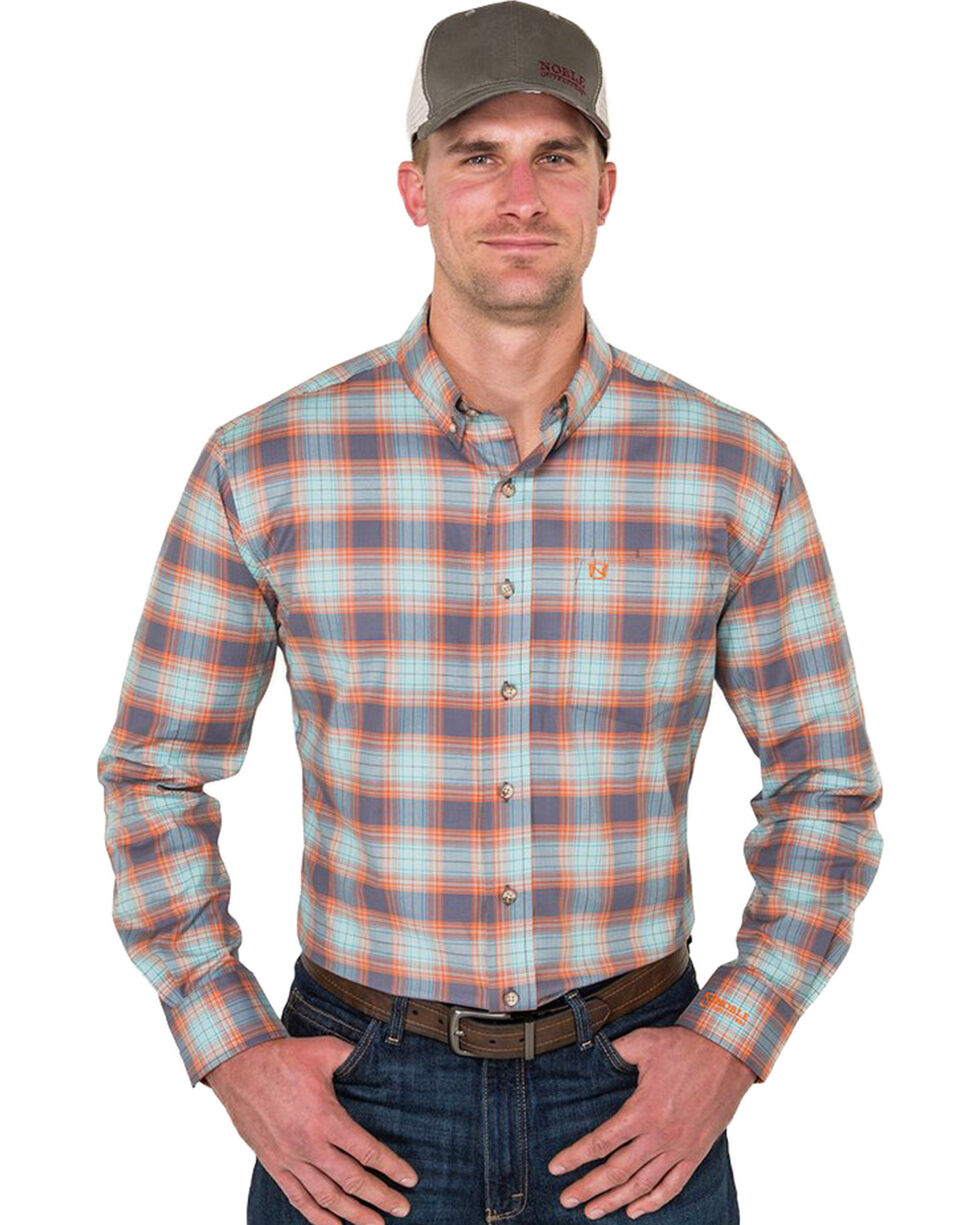 Noble Outfitters Men's Copen Blue Plaid Shirt , Blue, hi-res