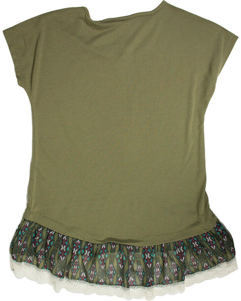Shyanne Girls' Love Arrows Layered Tee , Olive, hi-res